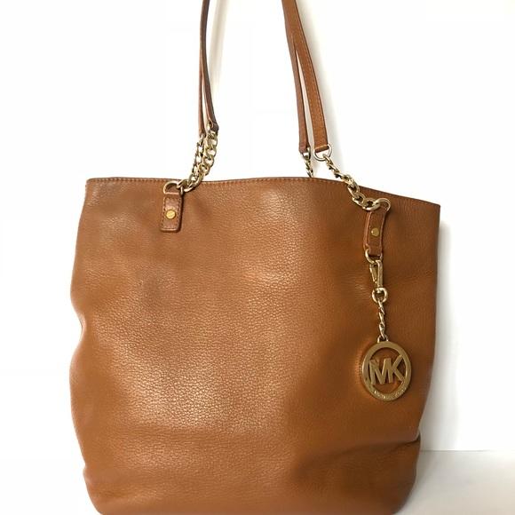 3f14287536bd Michael Kors Bags | Brown Leather Chain Strap Handbag | Poshmark